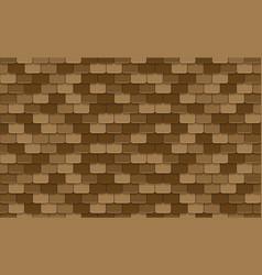 Brown rotiles seamless pattern vector