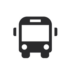 bus front icon in modern style for web site and vector image