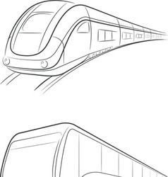 Bus Train Outline vector