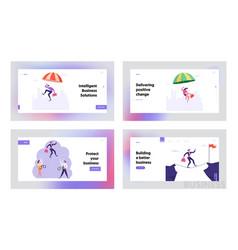 business risk danger and safety website landing vector image