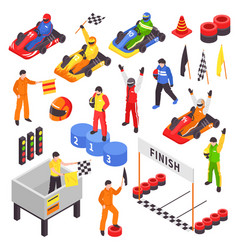 carting isometric elements collection vector image