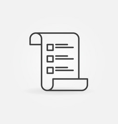 checklist or survey concept icon in thin vector image