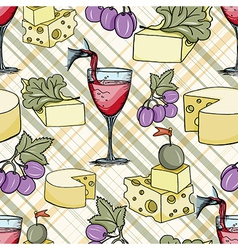 cheese seamless pattern vector image