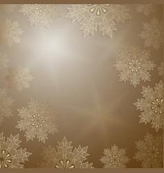Christmas ocher design with elegant golden vector