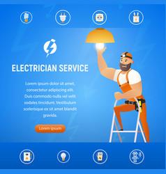 Concept electrician service vector