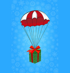 cute cartoon of christmas or new year gift flying vector image