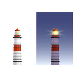 day night lighthouse vector image