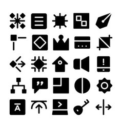 Design and Development Icons 10 vector image