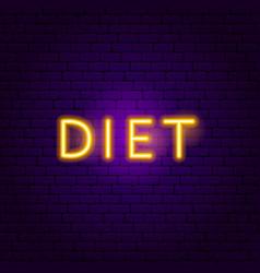 diet neon text vector image