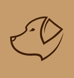 dog head symbol icon vector image