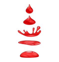drop of liquid water falls and makes a splash vector image