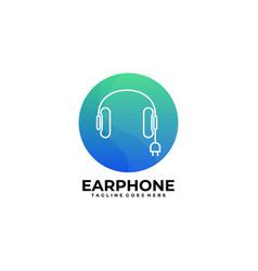 earphone template vector image