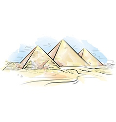 egypt piramids of giza vector image