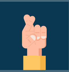 fingers crossed flat icon isolated symbol vector image