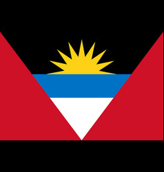 flag of antigua and barbuda official colors and vector image