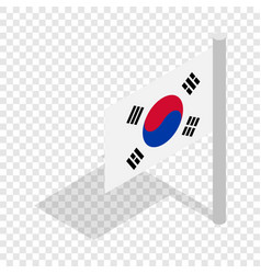 flag of south korea isometric icon vector image