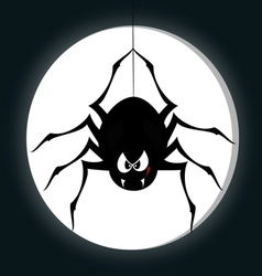 Funny freaky spider vector