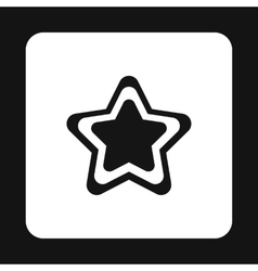 Geometrical figure of five pointed star icon vector