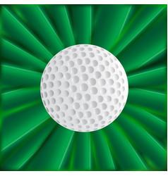 Golf ball over green vector