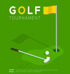 golf tournament promo poster flat template vector image