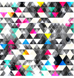 Grunge triangles seamless pattern vector