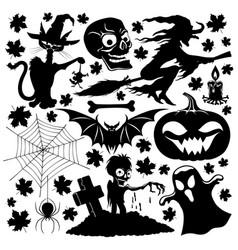 halloween holiday set vector image