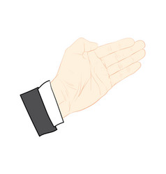 hand action vector image vector image