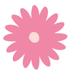 hand drawing pink color daisy flower with several vector image