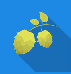 Hops icon in flat style isolated on white vector