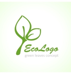 icon green ecology leaf vector image