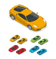 Isometric Yellow sports car vector