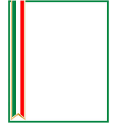 Italian flag ribbon frame vector