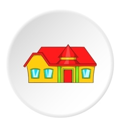 Large single storey house icon cartoon style vector image