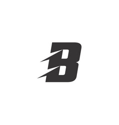 letter b logo symbol with cuts vector image