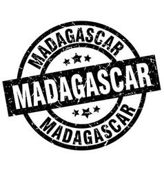 madagascar black round grunge stamp vector image