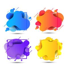 modern abstract liquid shape fluid elements vector image