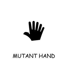 Mutant hand flat icon vector