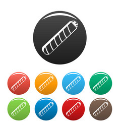 Narcotic cigar icons set color vector