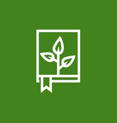 nature book logo vector image