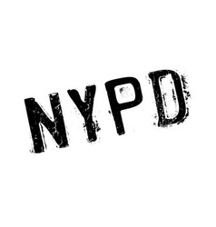 Nypd rubber stamp vector