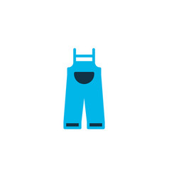 Overalls icon colored symbol premium quality vector