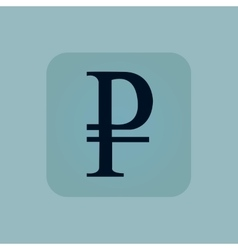 Pale blue ruble icon vector