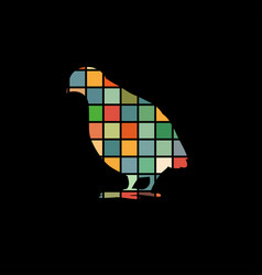 Partridge bird color silhouette animal vector