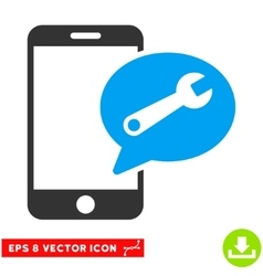 Phone Service SMS Eps Icon vector image