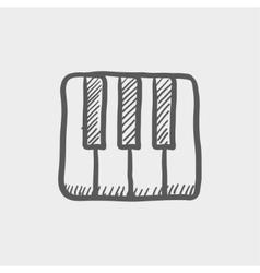 Piano keys sketch icon vector