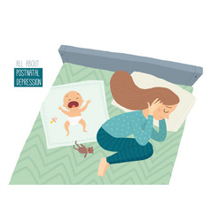 Postpartum depression postnatal depression vector