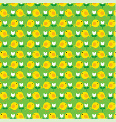 printeaster chick pattern vector image