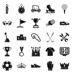 Prize icons set cartoon style vector