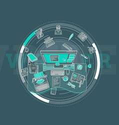 Promotional poster on work writer or vector