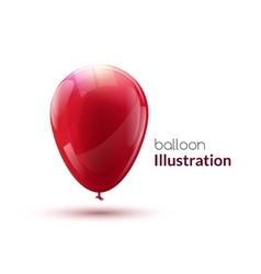 Red shiny glossy balloon vector